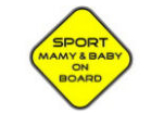 Sport mamy and baby on board